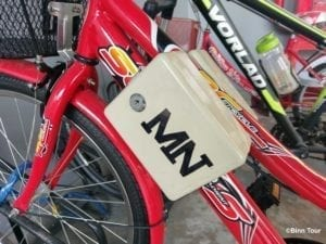 a locker box attached to a bicycle