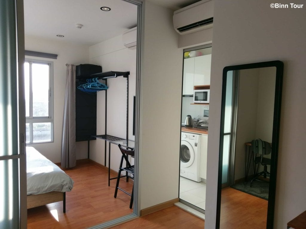 view inside of an Airbnb apartment