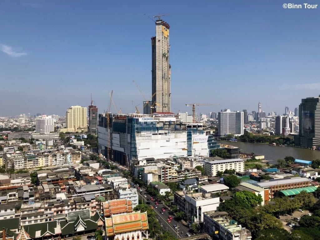View of the ICONSIAM mall facing Charoen Nakhon Road