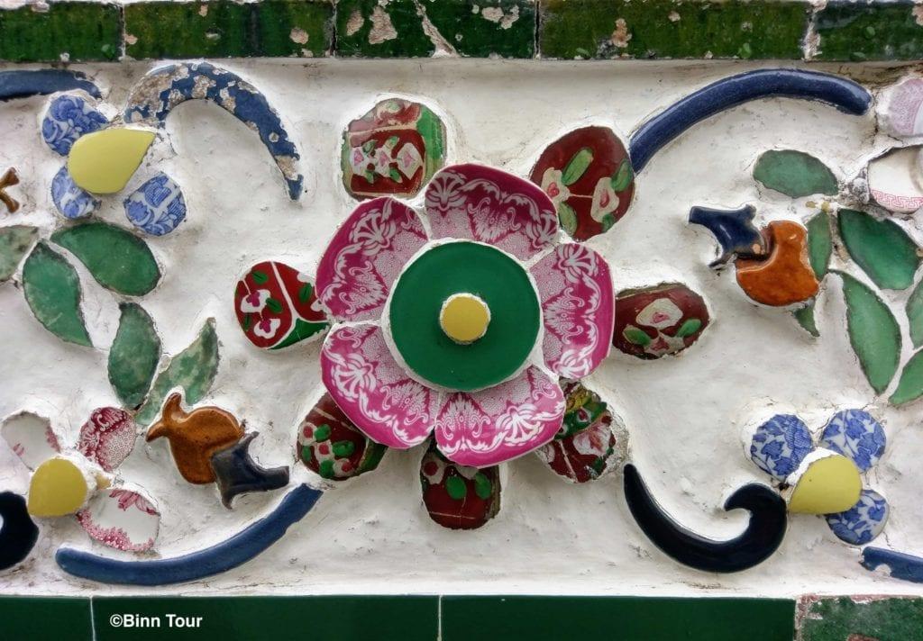 Porzellan-Dekoration im Tempel der Morgenr?te (Wat Arun)