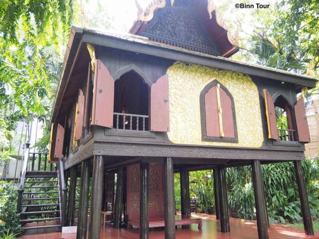 Front view of the Lacquer Pavilion at Suan Pakkad Palace