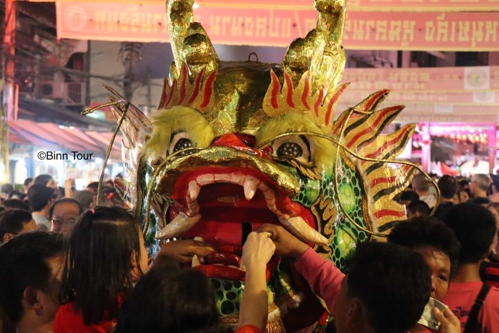 Dragon dance during Chinese New Year in Bangkok