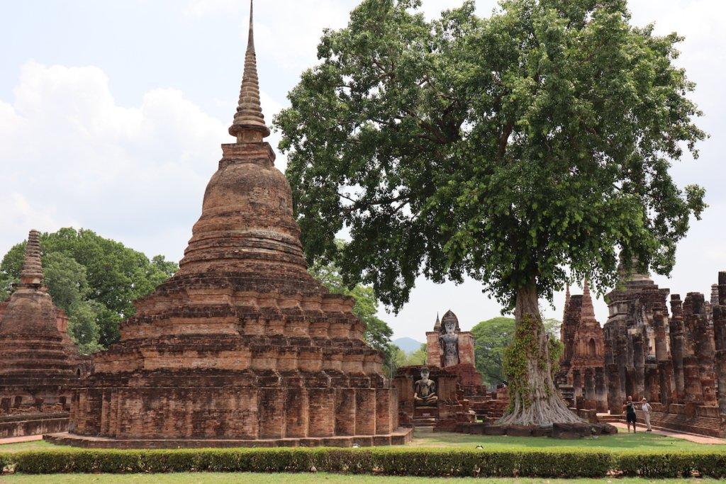 Inside the Sukhothai Historical Park where the Ram Khamhaeng inscription was found